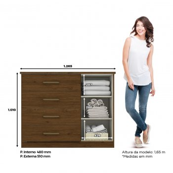 Magno 1-door, 4-drawer dresser